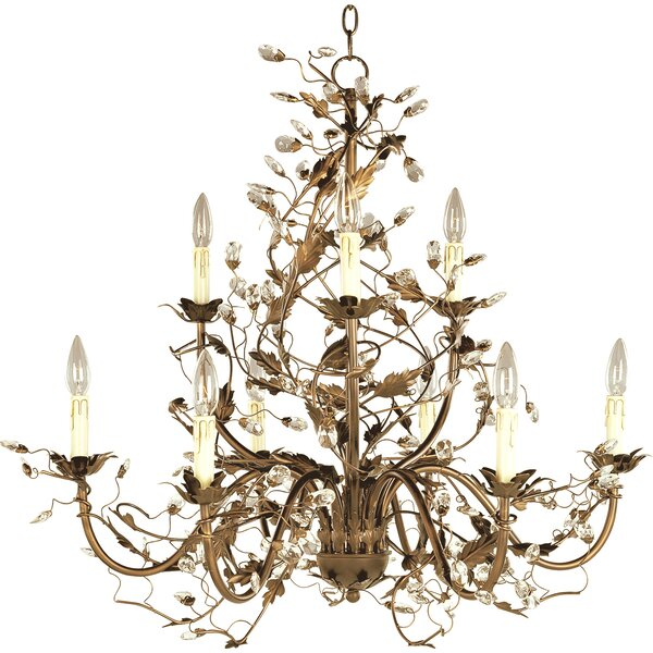 Kaiya 9-Light Candle Style Tiered Chandelier by Bungalow Rose Bungalow Rose
