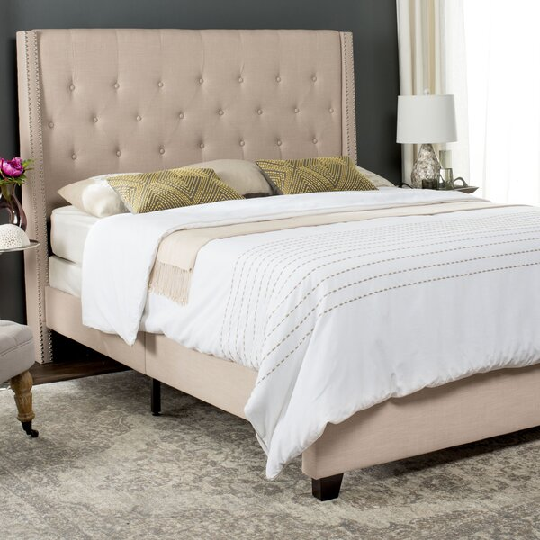 Wampler Upholstered Standard Bed by Charlton Home