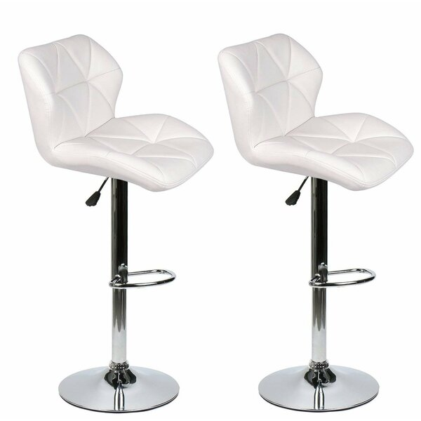 Ferrer Modern Adjustable Height Swivel Bar Stool (Set of 2) by Wrought Studio