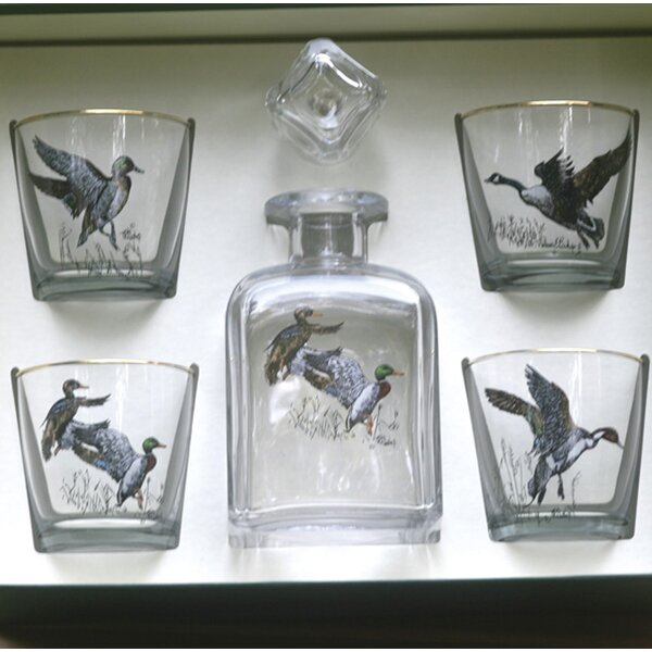 5-Piece Waterfowl Decanter Set by Richard E. Bishop