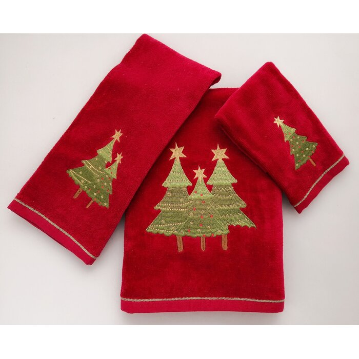 Christmas 3 Piece 100% Cotton Towel Set