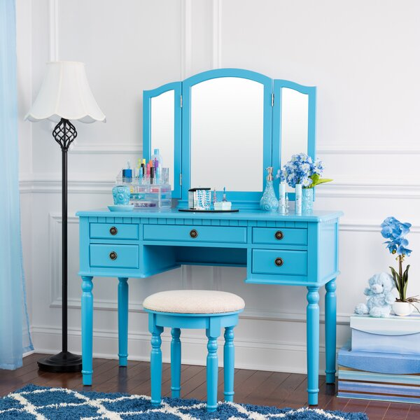 Scotty Vanity Set with Mirror by House of Hampton