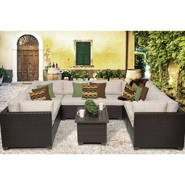 Rushden 9 Piece Sectional Seating Group with Cushions by Sol 72 Outdoor