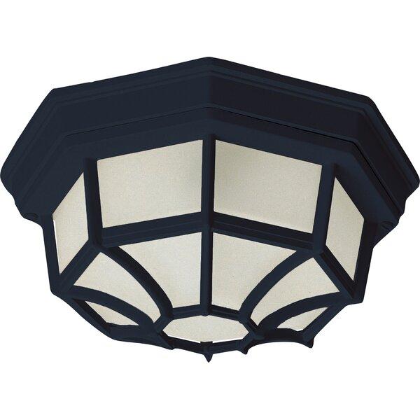Berryville LED Outdoor Bulkhead Light by Charlton Home