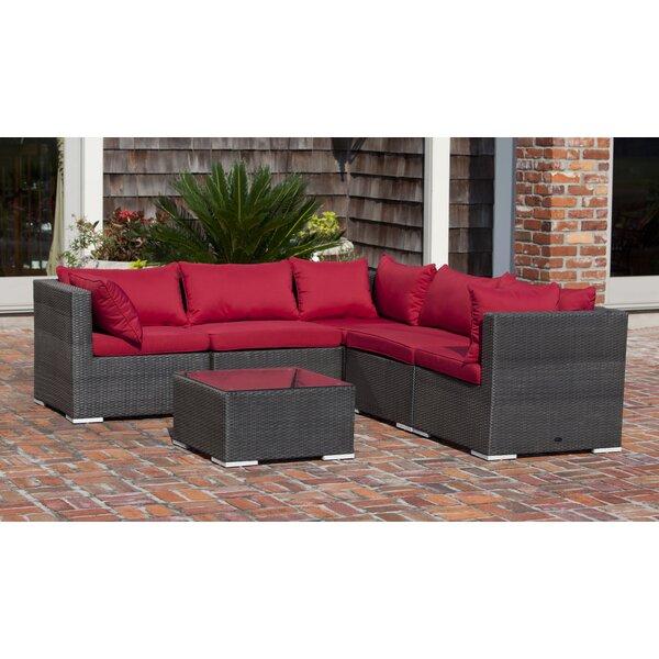 PatioSense Sino Wicker Sofa Set U0026 Reviews | Wayfair