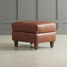 Jesper Leather Ottoman by DwellStudio