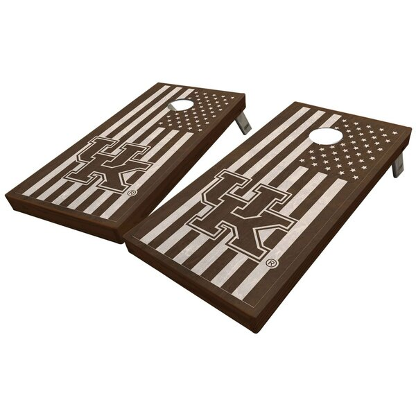 University of Kentucky Stained American Flag 10 Piece Cornhole Set by West Georgia Cornhole
