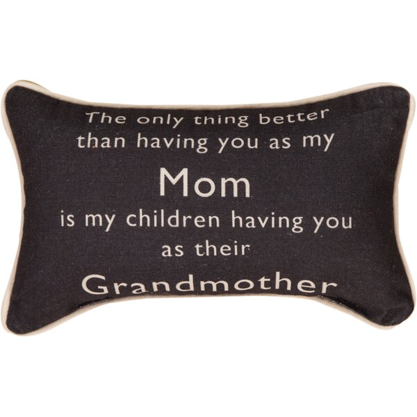 The Only Thing Better... Grandmother Word Cotton Lumbar Pillow by Manual Woodworkers & Weavers