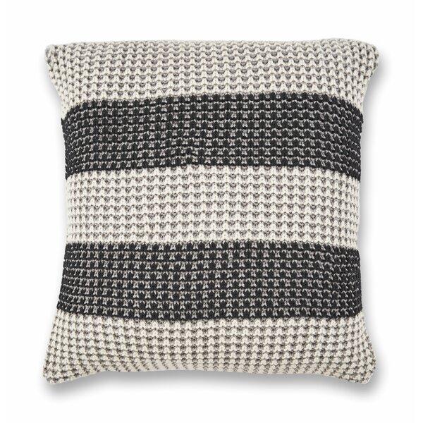 Duluth Stripe Cotton Throw Pillow by Eider & Ivory