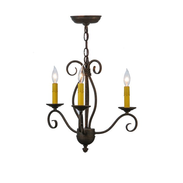 Sienna 3-Light Candle Style Chandelier by Meyda Tiffany