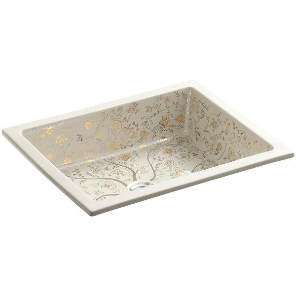 Mille Fleurs Ceramic Rectangular Undermount Bathroom Sink by Kohler