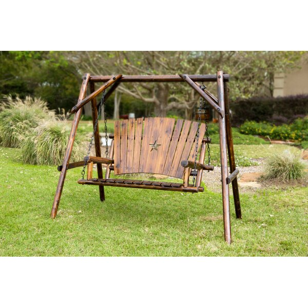 Char-Log Star Porch Swing with Stand by Leigh Country Leigh Country