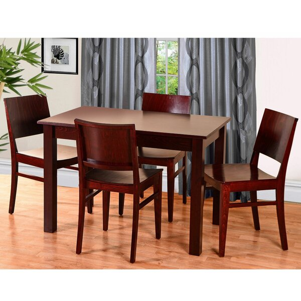 Zinab 5 Piece Solid Wood Dining Set by Mistana Mistana