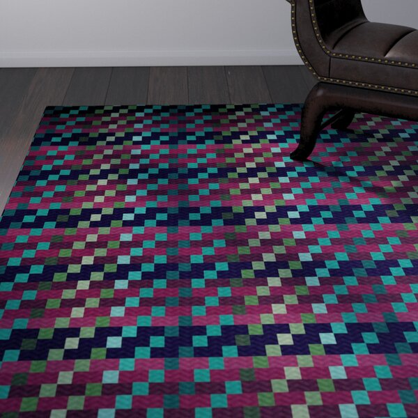 Liam Purple Indoor/Outdoor Area Rug by Corrigan Studio