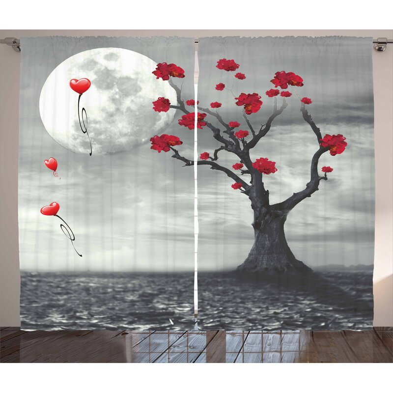 East Urban Home Tree Pinch Pleat Blackout Thermal Curtains