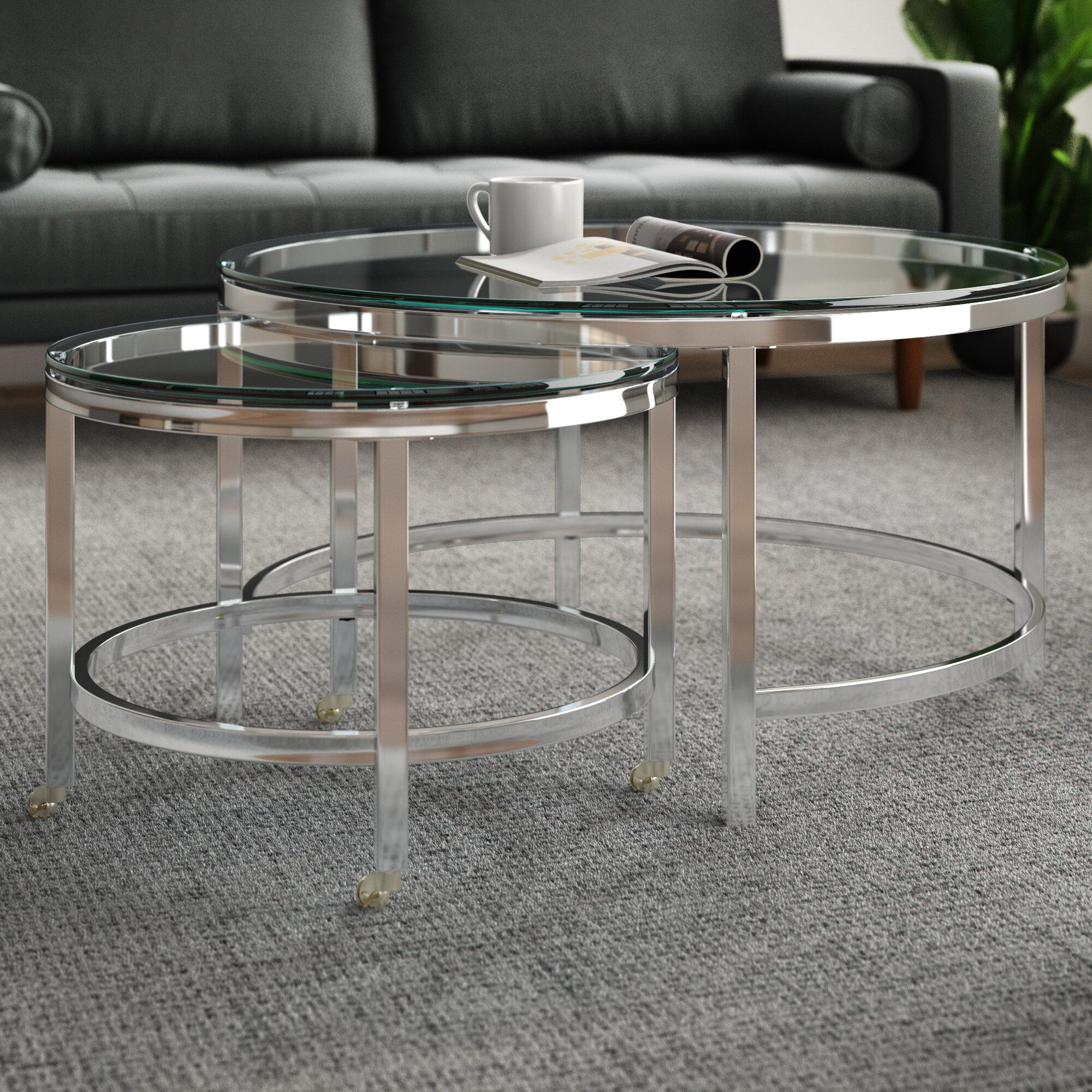 Zack 2 Piece Coffee Table Set Reviews