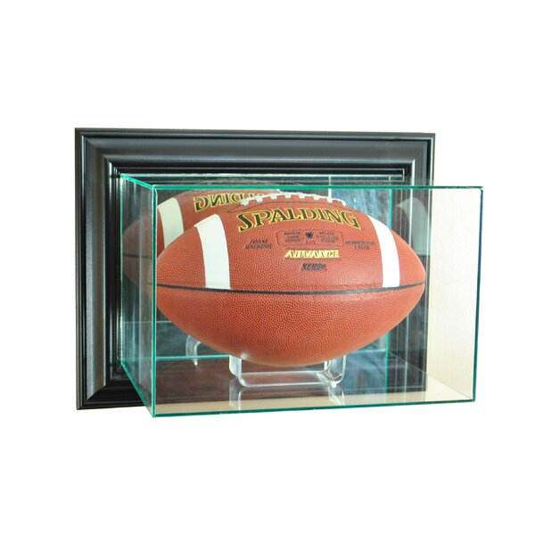 Wall Mounted Football Display Case by Perfect Cases and Frames
