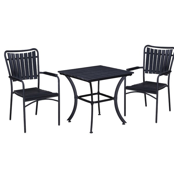 Greenpoint 3 Piece Bistro Set by Highland Dunes