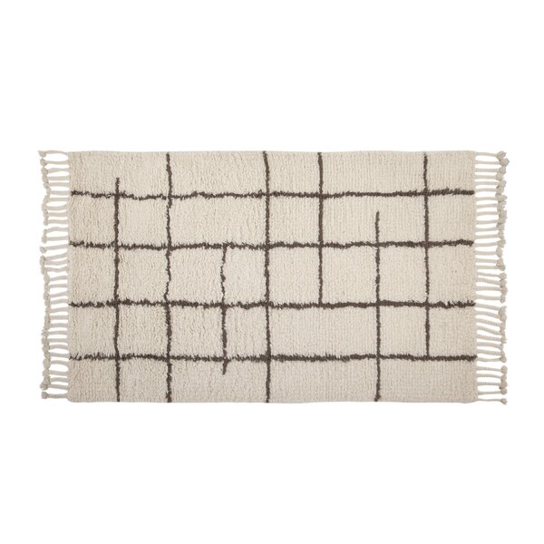 Lisson Hand Woven Wool Off White Area Rug by 17 Stories