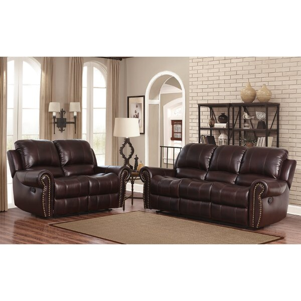 Barnsdale Reclining 2 Piece Leather Living Room Set by Darby Home Co