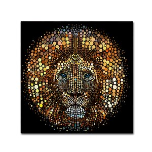 'Paint Dawb Lion' Graphic Art Print on Wrapped Canvas by Trademark Fine Art