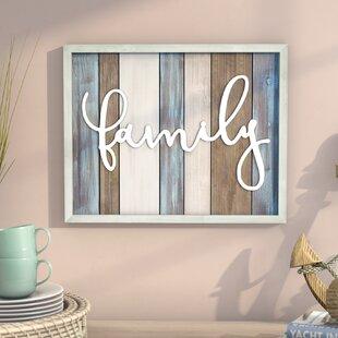 Family Wood Wall Décor