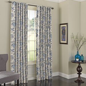 Jessamy Nature/Floral Max Blackout Rod Pocket Single Curtain Panel