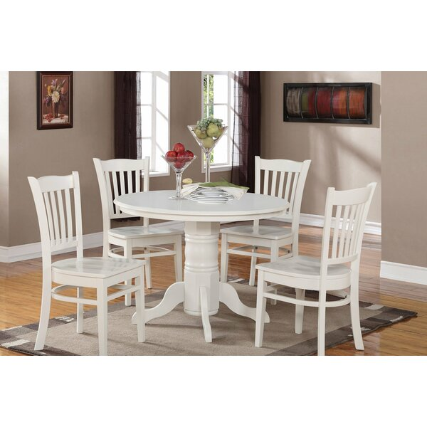 Langwater 5 Piece Solid Wood Dining Set by Beachcrest Home