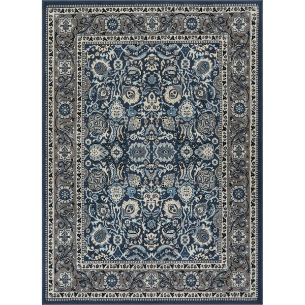 Persa Tabriz Oriental Persian Blue Area Rug by Well Woven