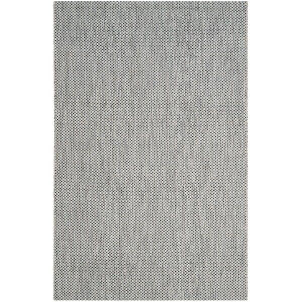 Emery Gray/Navy Blue Indoor/Outdoor Area Rug by Modern Rustic Interiors