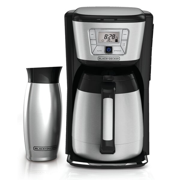 12-Cup Thermal Coffee Maker and Mug by Black + Decker