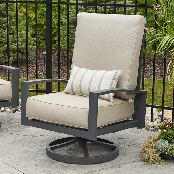 Lyndale High Back Patio Chair with Cushions (Set of 2) by The Outdoor GreatRoom Company The Outdoor GreatRoom Company