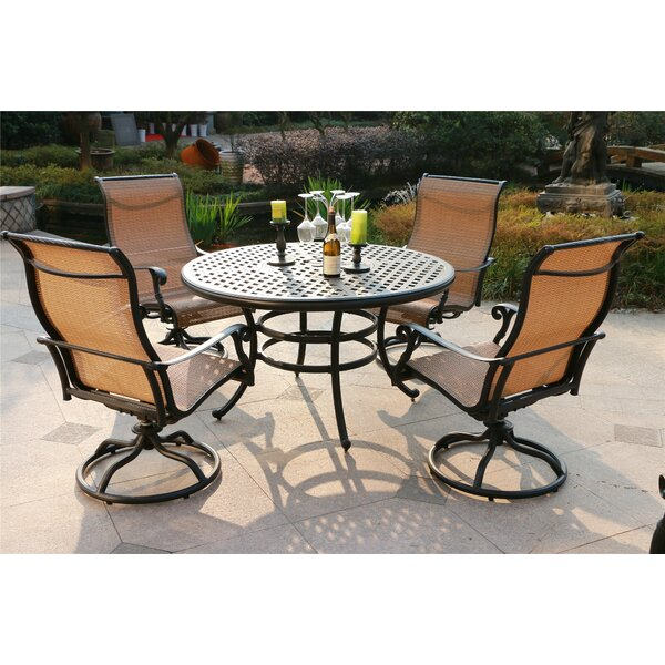 Scofield Aluminum 5 Piece Dining Set by Canora Grey