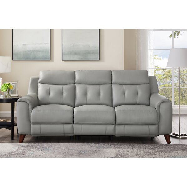 Nagata Leather Reclining Sofa by Latitude Run