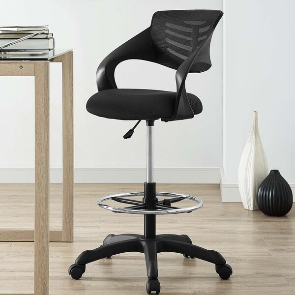 Knopp Mesh Drafting Chair by Symple Stuff