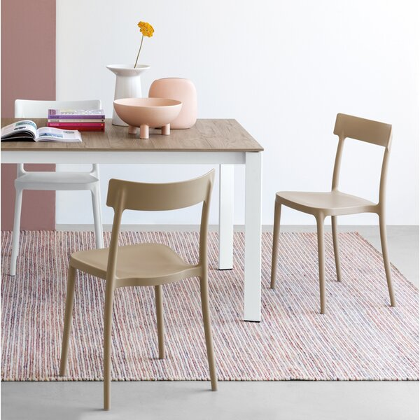 Jett Stacking Patio Dining Chair by George Oliver