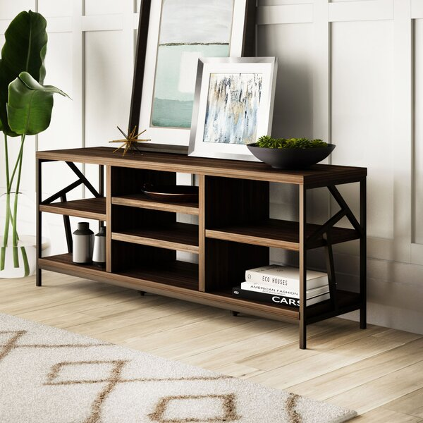 Derwood Metal Distressed Storage Console Table by Mercury Row