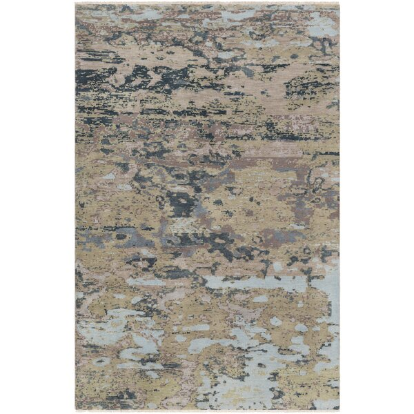 Pelayo Hand-Knotted Wool Blue/Green Area Rug by Bungalow Rose