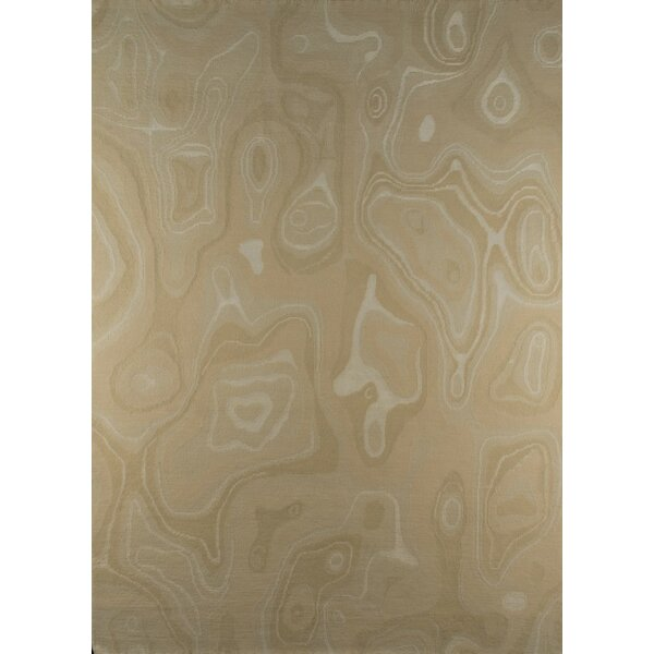 Valley Hand-Knotted Beige Area Rug by M.A. Trading