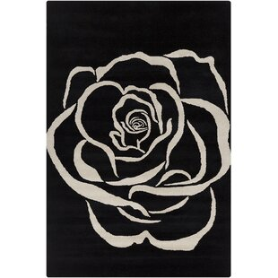 Willow Hand Tufted Wool Black/White Area Rug By Red Barrel Studio