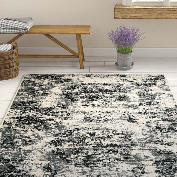 Pinson Black/White Area Rug by Gracie Oaks