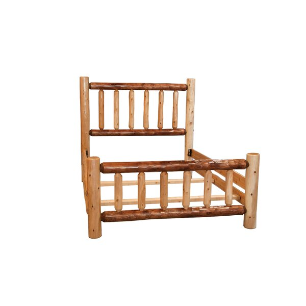 Ulloa Rustic White Cedar Log Two Tone Standard Bed by Loon Peak
