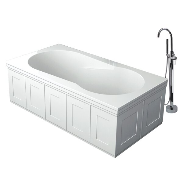 Brookfield 60 x 32 Freestanding Undermount Bathtub by Transolid