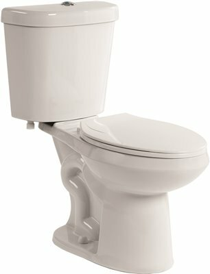 All-in-One Comfort Height Dual Flush Elongated One-Piece Toilet by Premier Faucet