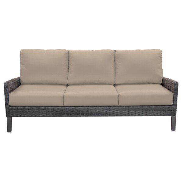 Macklin Patio Sofa with Sunbrella Cushions by Ebern Designs Ebern Designs