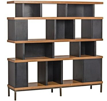 Meier Geometric Bookcase by Noir