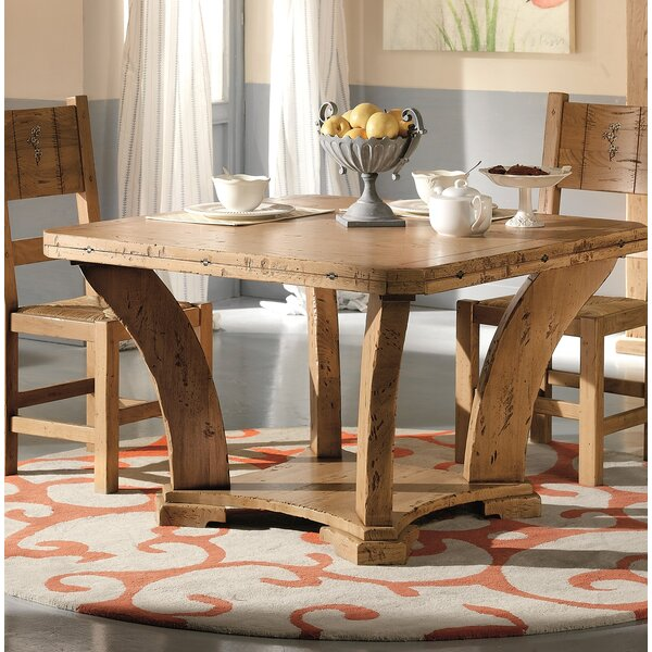 Jacobs Extendable Solid Wood Dining Table by Loon Peak