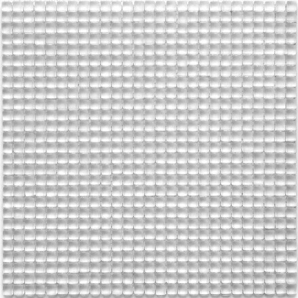 Atlantis 0.25 x 0.25 Glass Mosaic Tile in Anemone White by Solistone