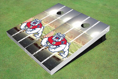 NCAA 10 Piece Stadium Long Strip Cornhole Board Set by All American Tailgate