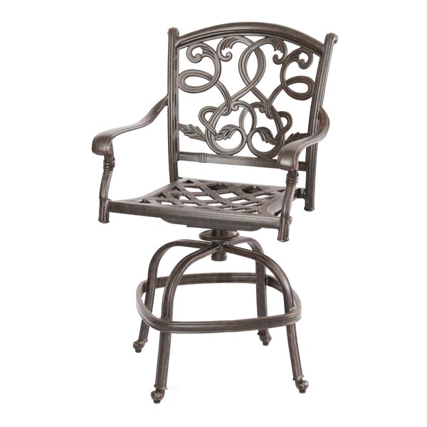 Windley Cottage 26 Patio Bar Stool with Cushion by Fleur De Lis Living